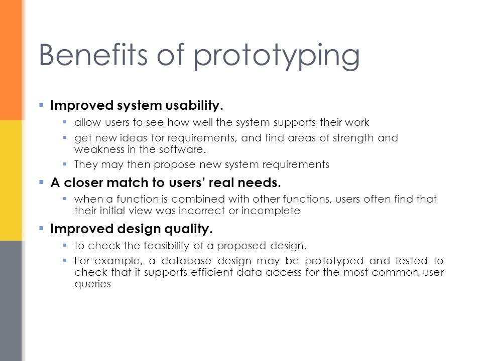 Benefits of prototyping