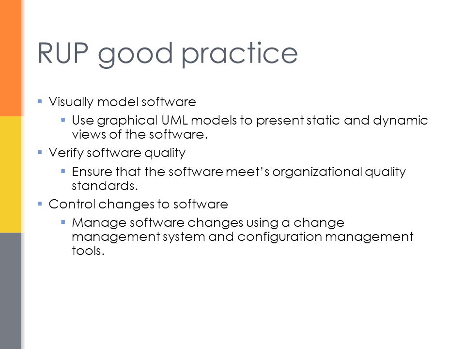 RUP good practice Visually model software
