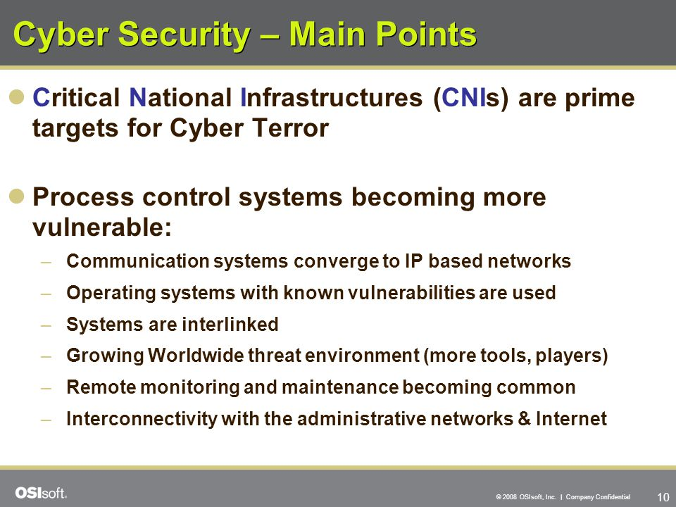 Cyber Security – Main Points