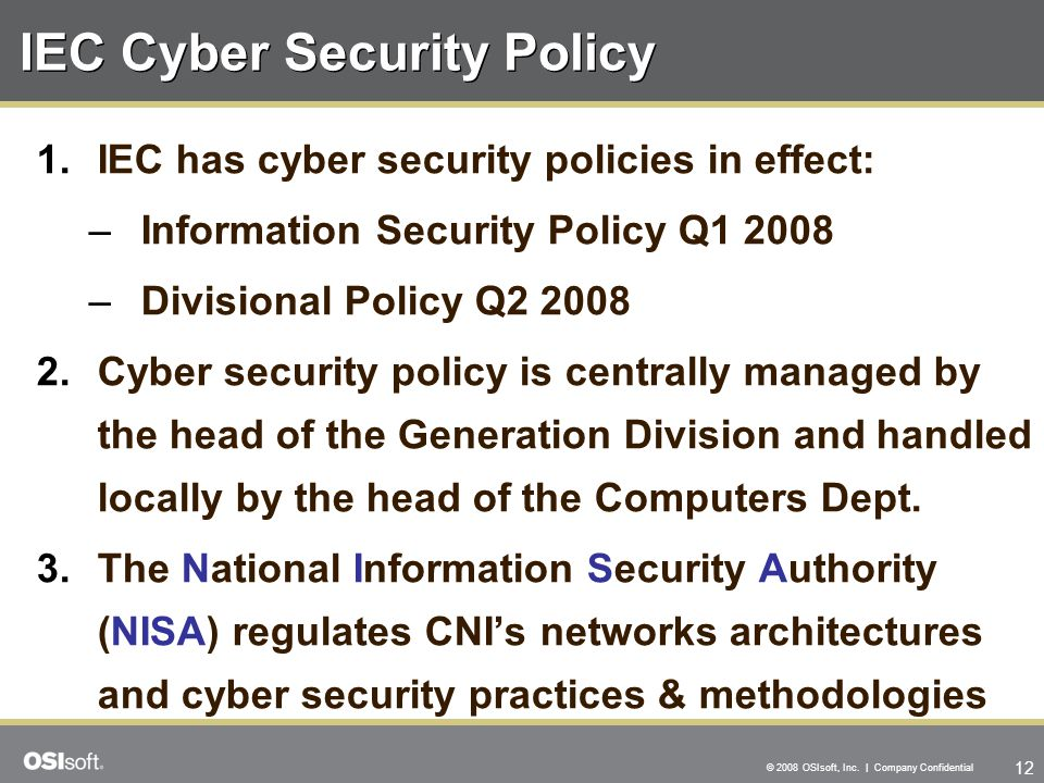 IEC Cyber Security Policy