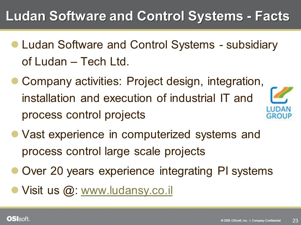 Ludan Software and Control Systems - Facts