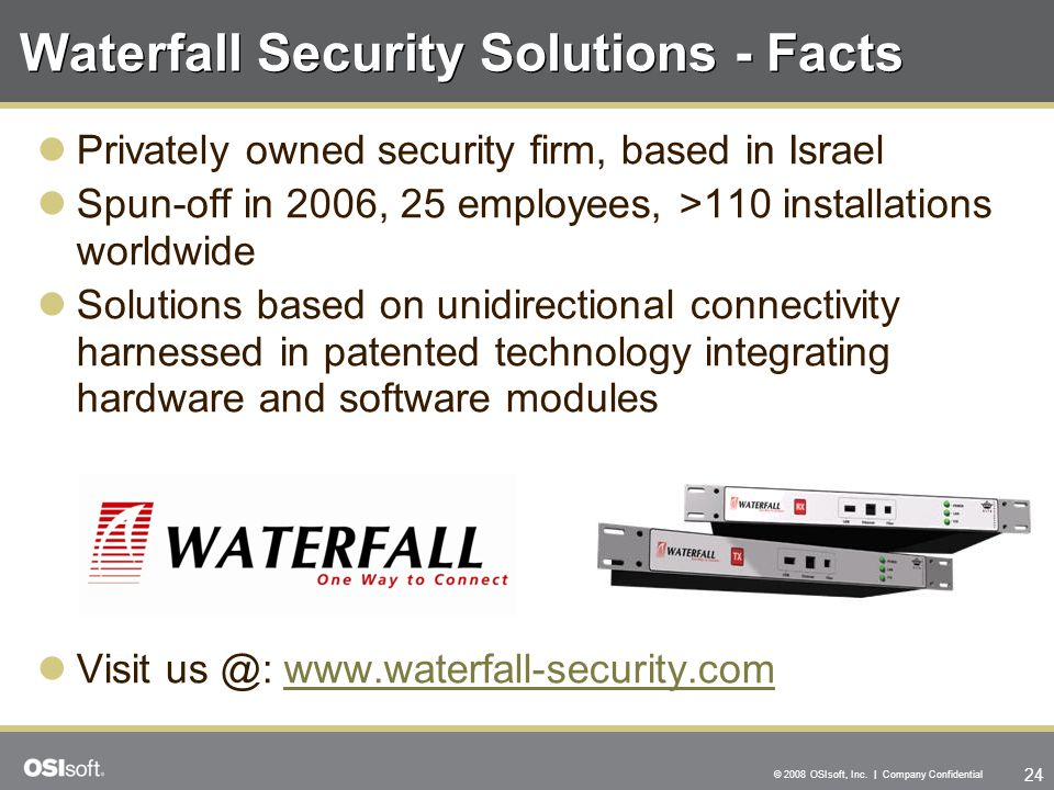 Waterfall Security Solutions - Facts