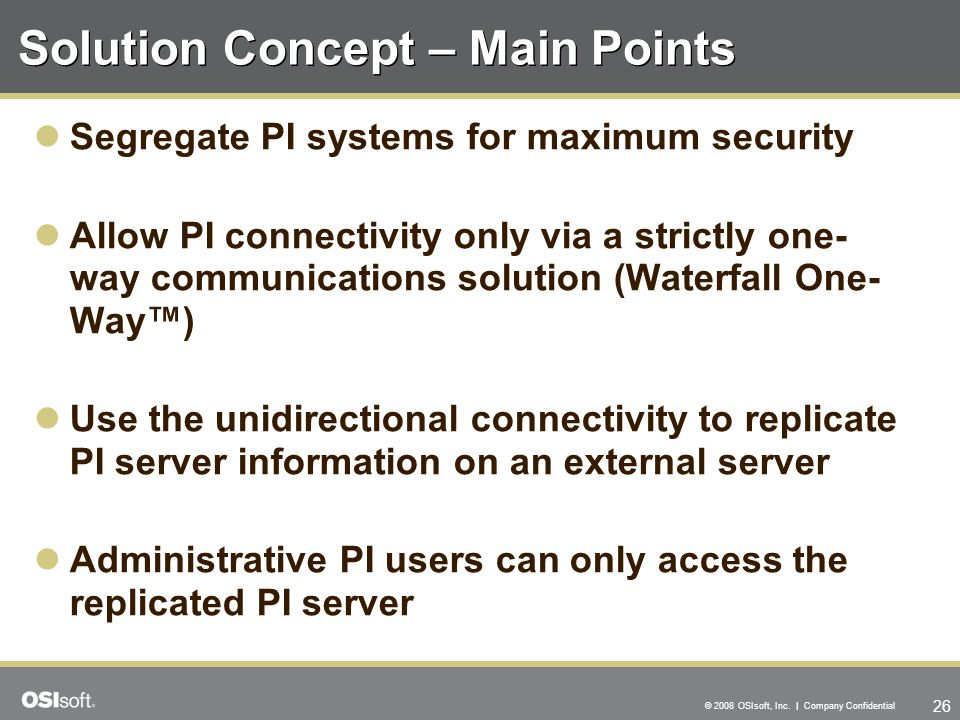 Solution Concept – Main Points