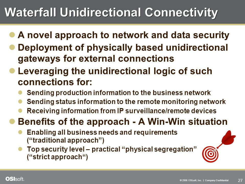 Waterfall Unidirectional Connectivity