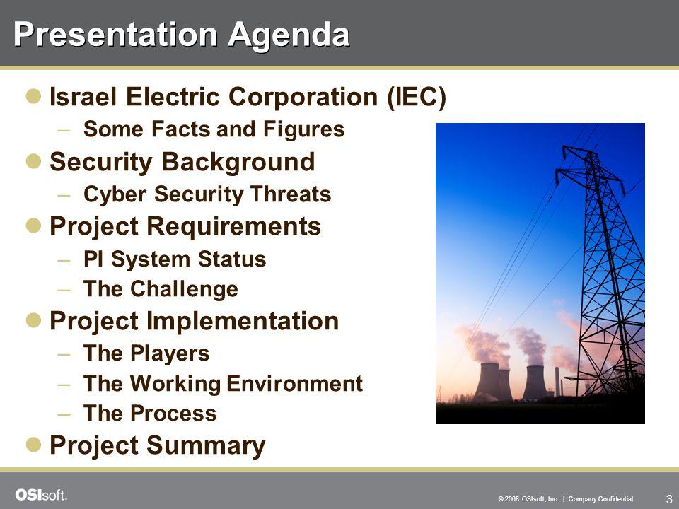 Presentation Agenda Israel Electric Corporation (IEC)