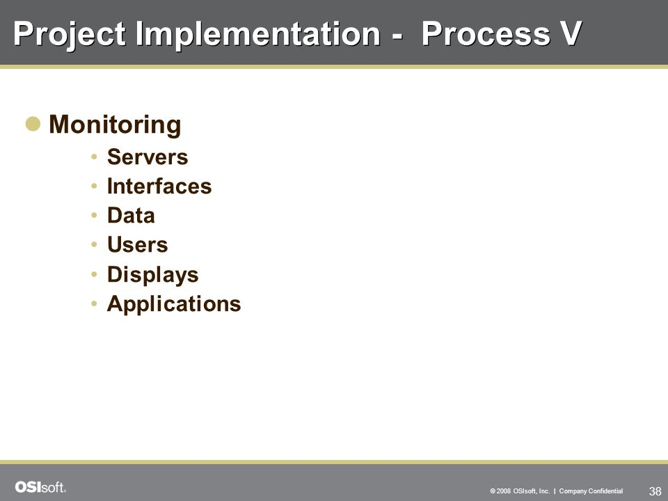 Project Implementation - Process V