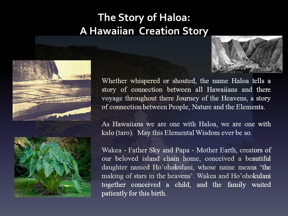 The Story of Haloa: A Hawaiian Creation Story