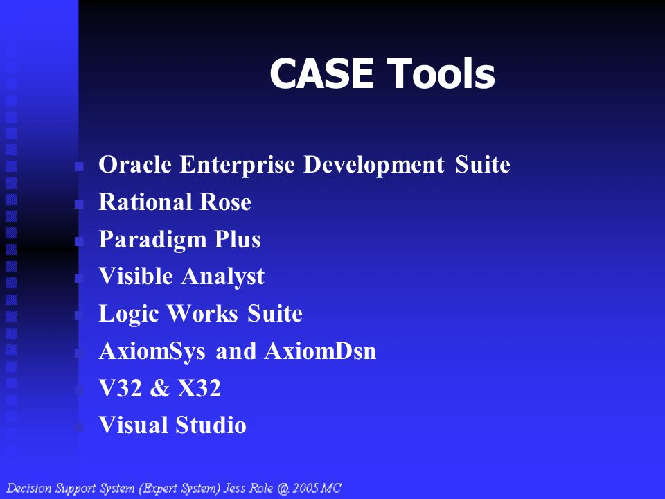 CASE Tools Oracle Enterprise Development Suite Rational Rose