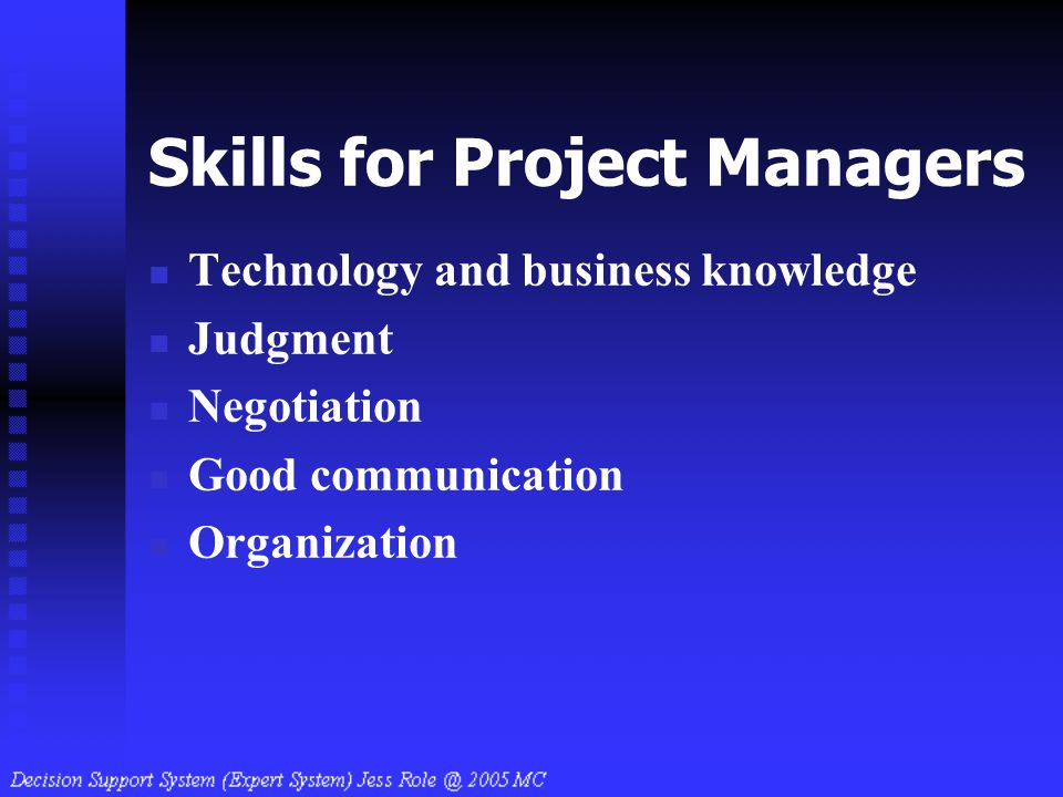 Skills for Project Managers