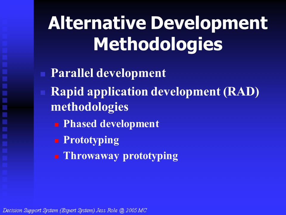 Alternative Development Methodologies