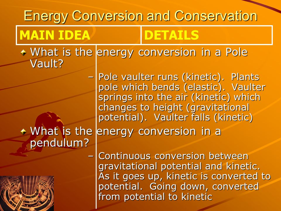 Energy Conversion and Conservation