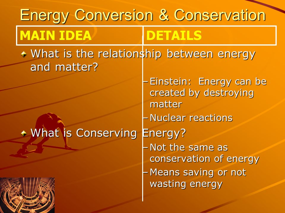 Energy Conversion & Conservation