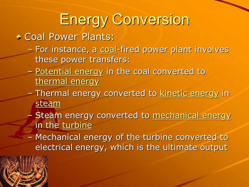 Energy Conversion Coal Power Plants: