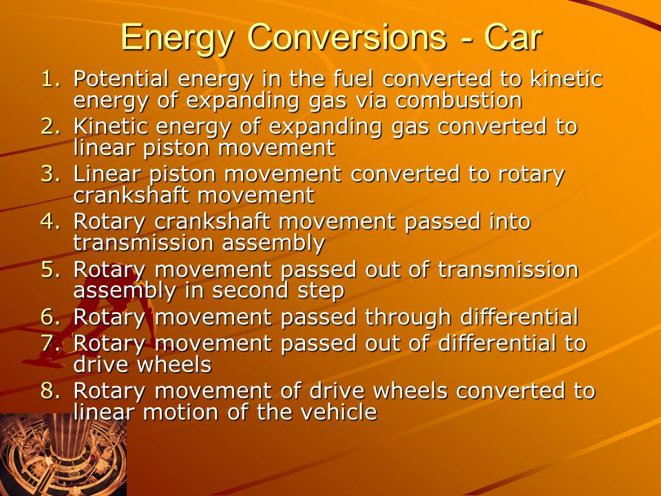 Energy Conversions - Car