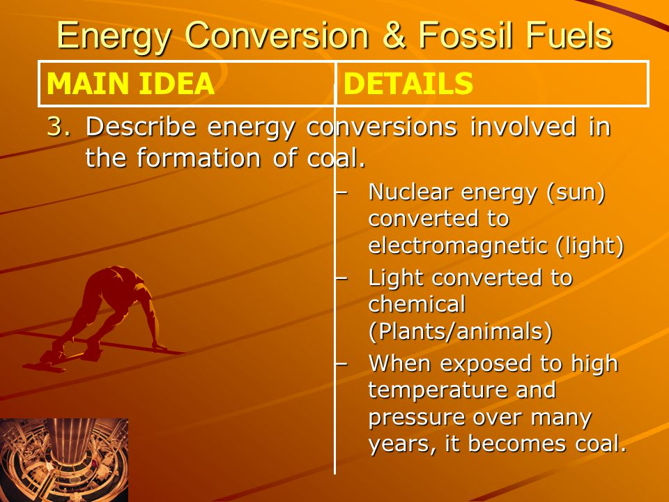 Energy Conversion & Fossil Fuels