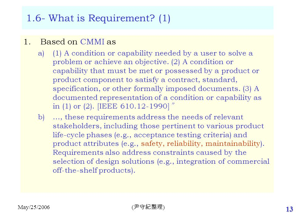 1.6- What is Requirement (2)