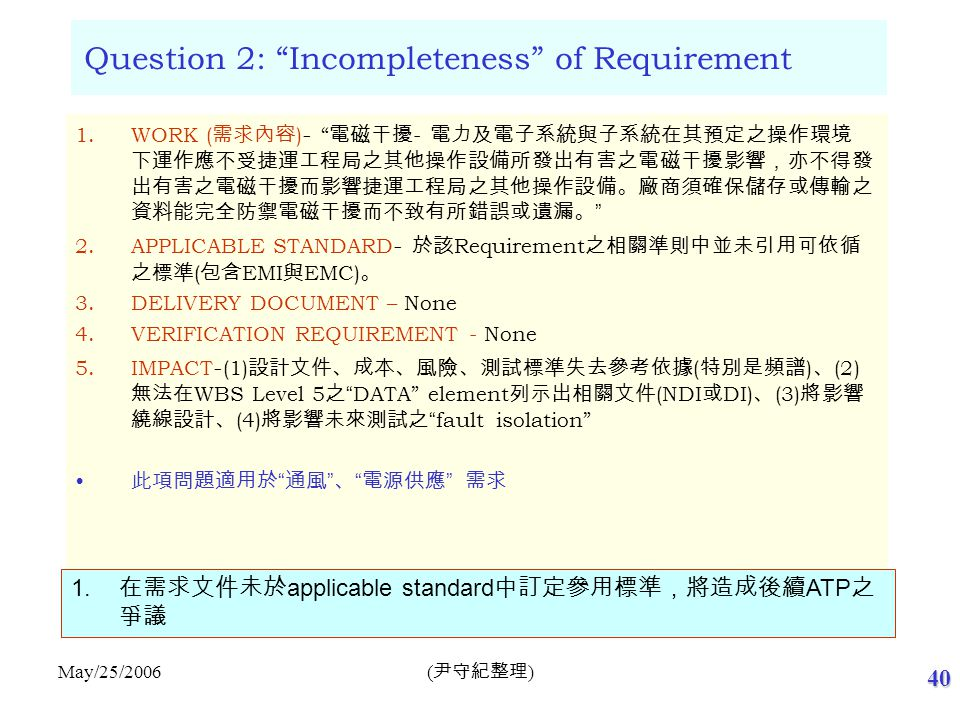 Question 3: Ambiguous of LAN Requirement