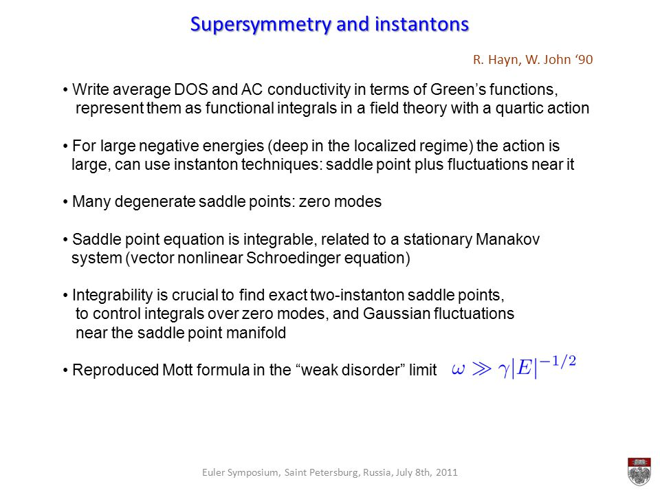 Supersymmetry and instantons