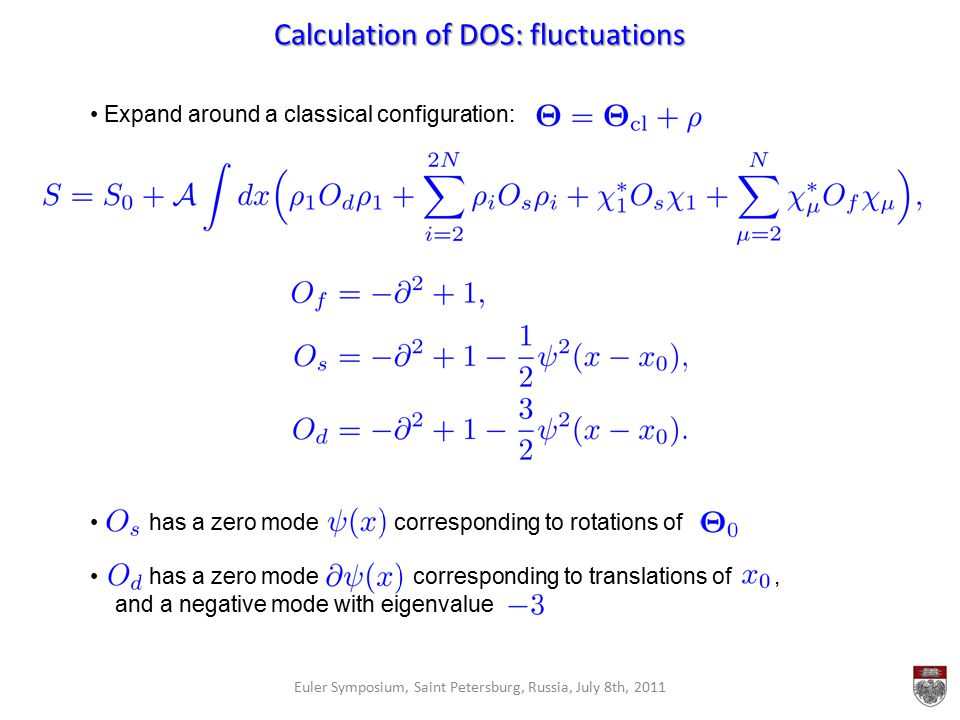 Calculation of DOS: fluctuations