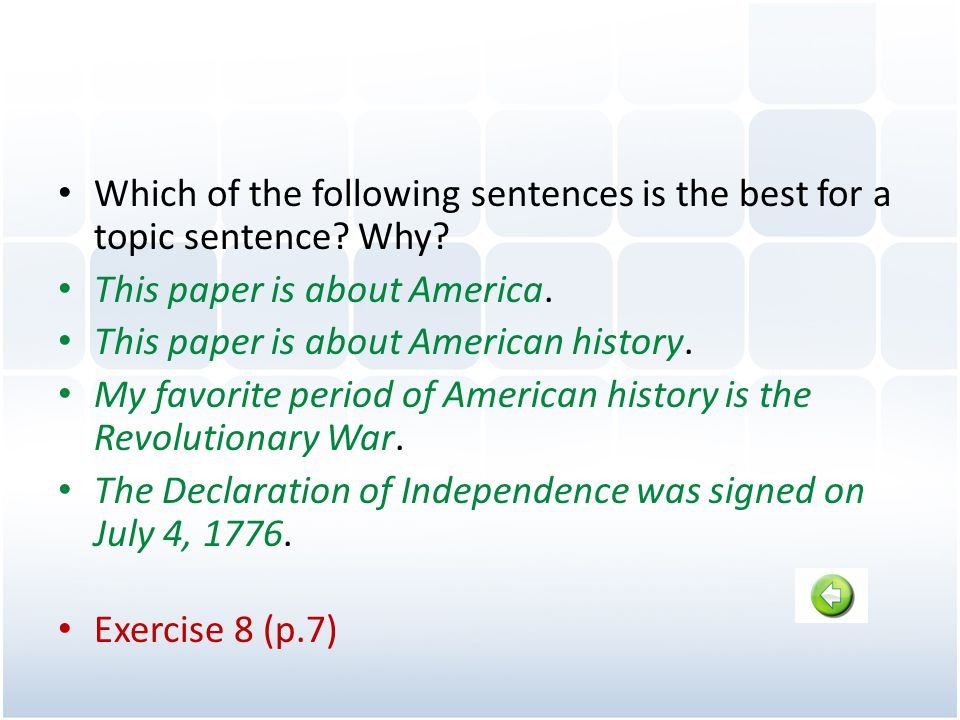 This paper is about America. This paper is about American history.