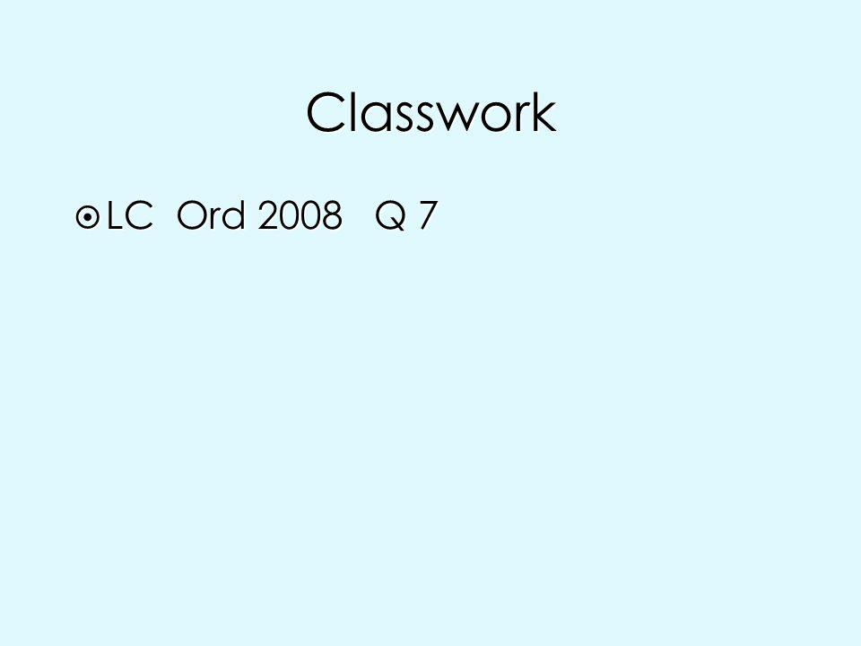 Classwork LC Ord 2008 Q 7