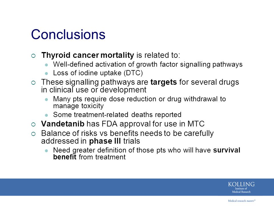 Conclusions Thyroid cancer mortality is related to: