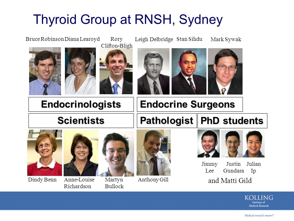 Thyroid Group at RNSH, Sydney