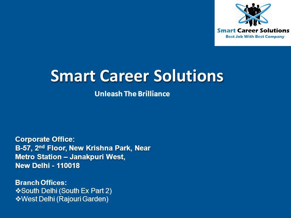 Smart Career Solutions Unleash The Brilliance