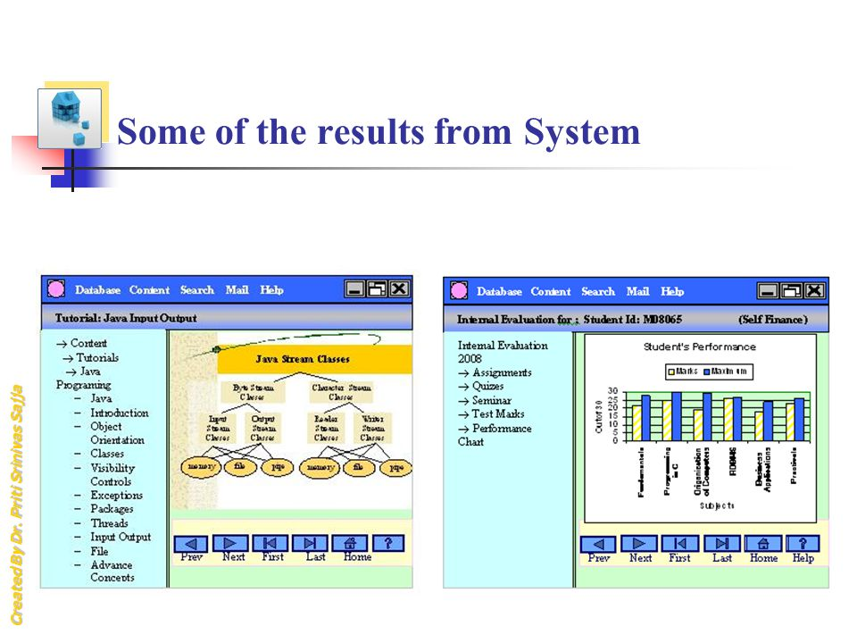 Some of the results from System