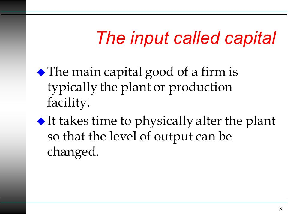 The input called capital