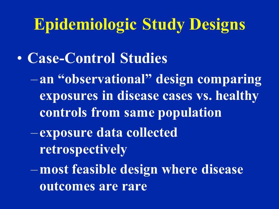 Epidemiologic Study Designs