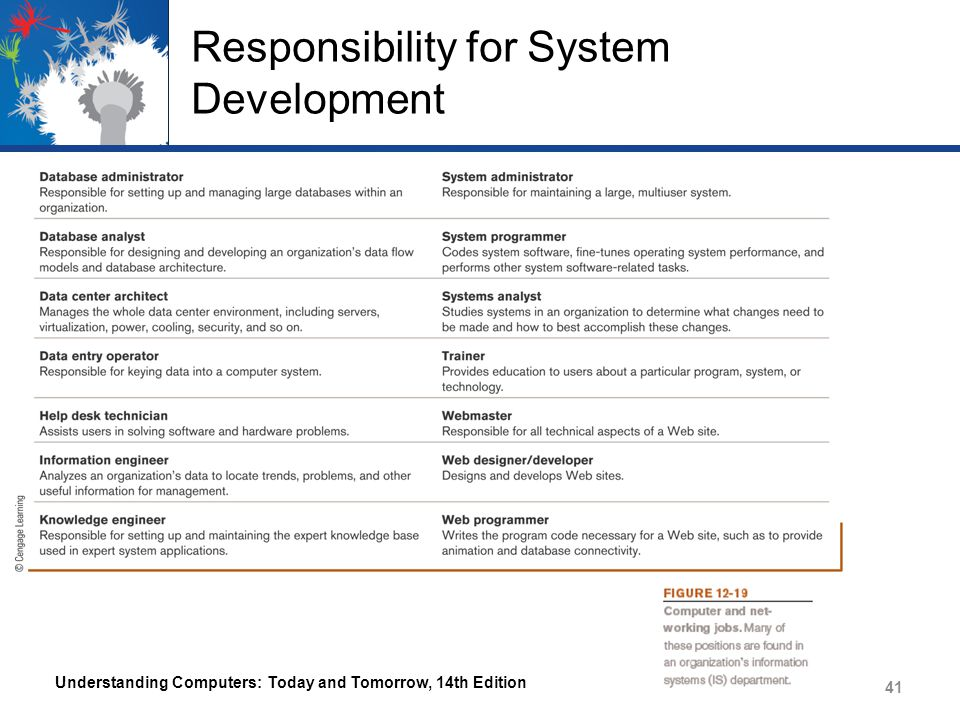 Responsibility for System Development