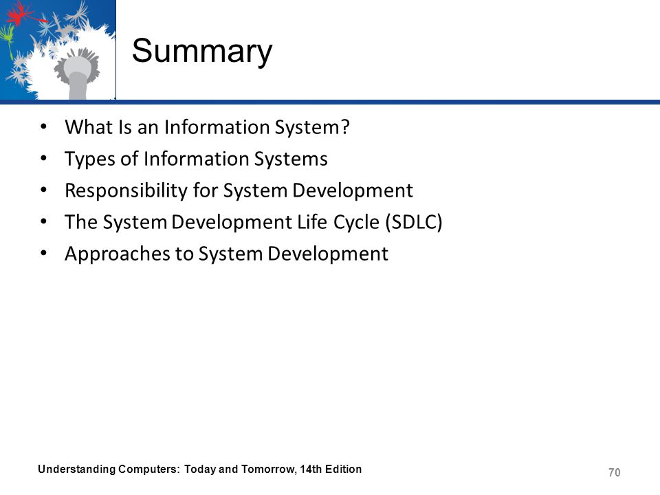 Summary What Is an Information System Types of Information Systems