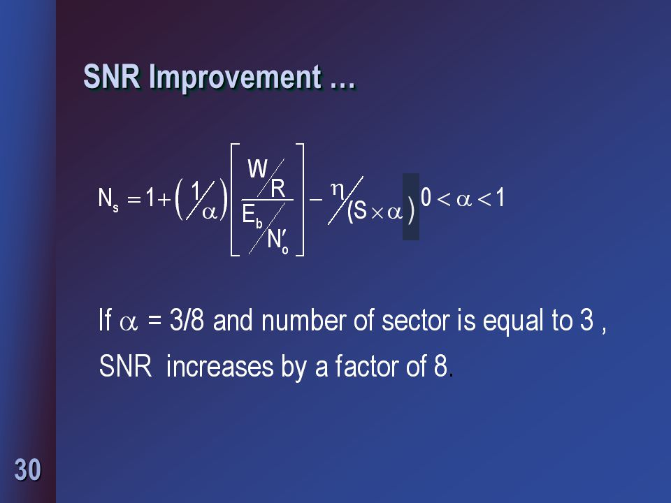 SNR Improvement … )