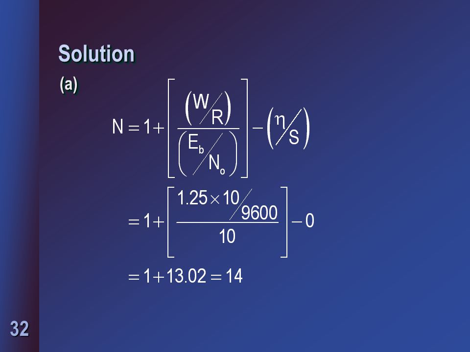 Solution (a)
