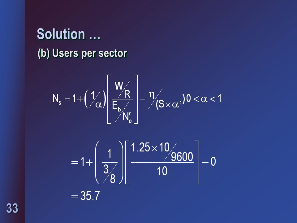 Solution … (b) Users per sector