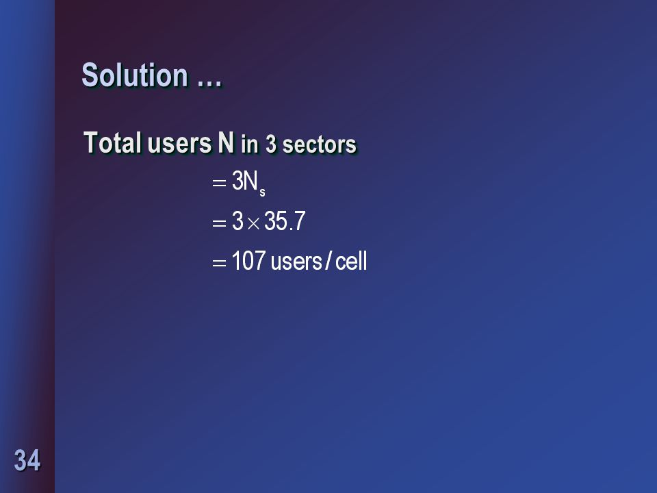 Solution … Total users N in 3 sectors