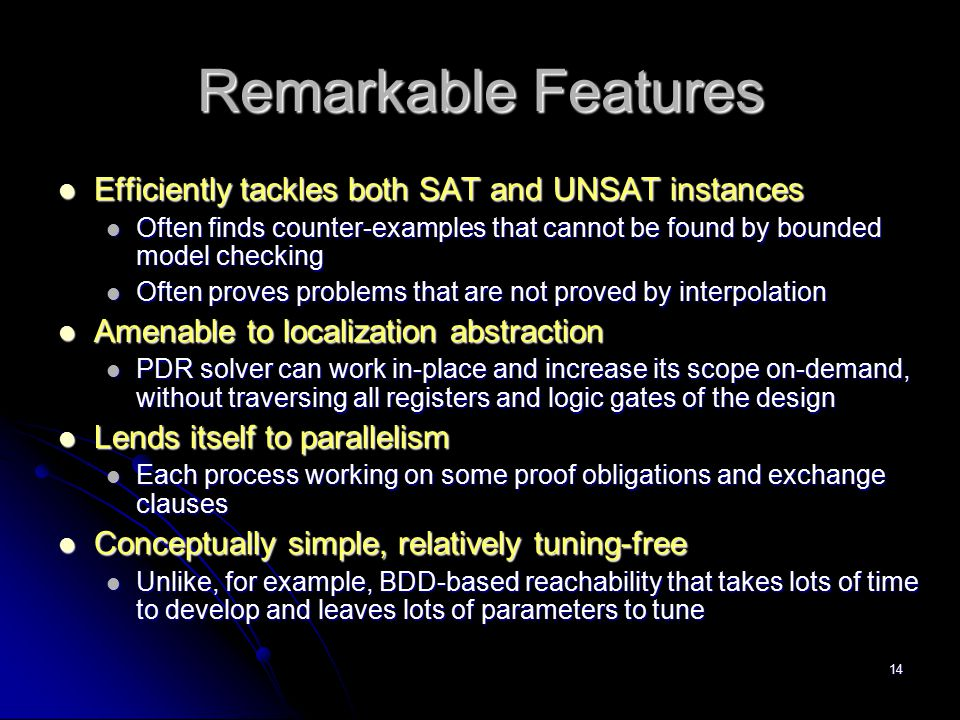 Remarkable Features Efficiently tackles both SAT and UNSAT instances