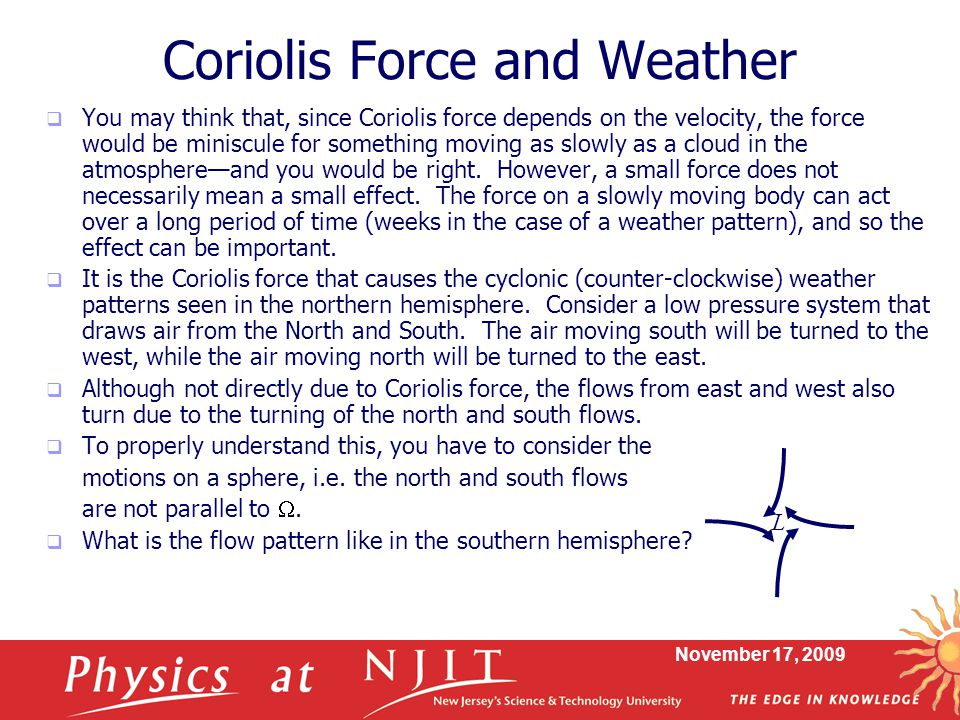 Coriolis Force and Weather