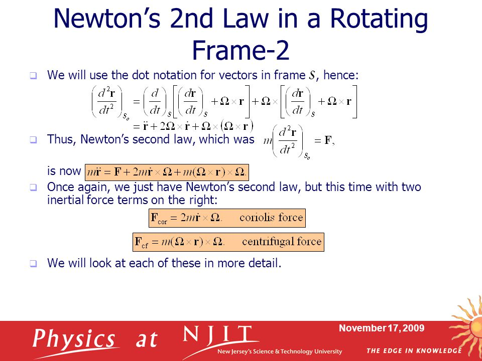 Newton's 2nd Law in a Rotating Frame-2