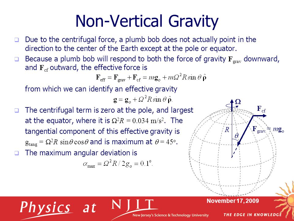 Non-Vertical Gravity