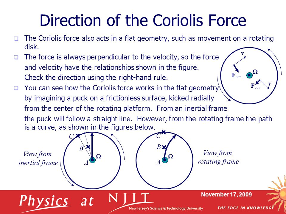 Direction of the Coriolis Force