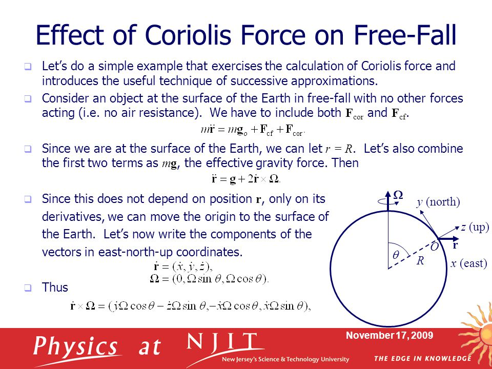 Effect of Coriolis Force on Free-Fall