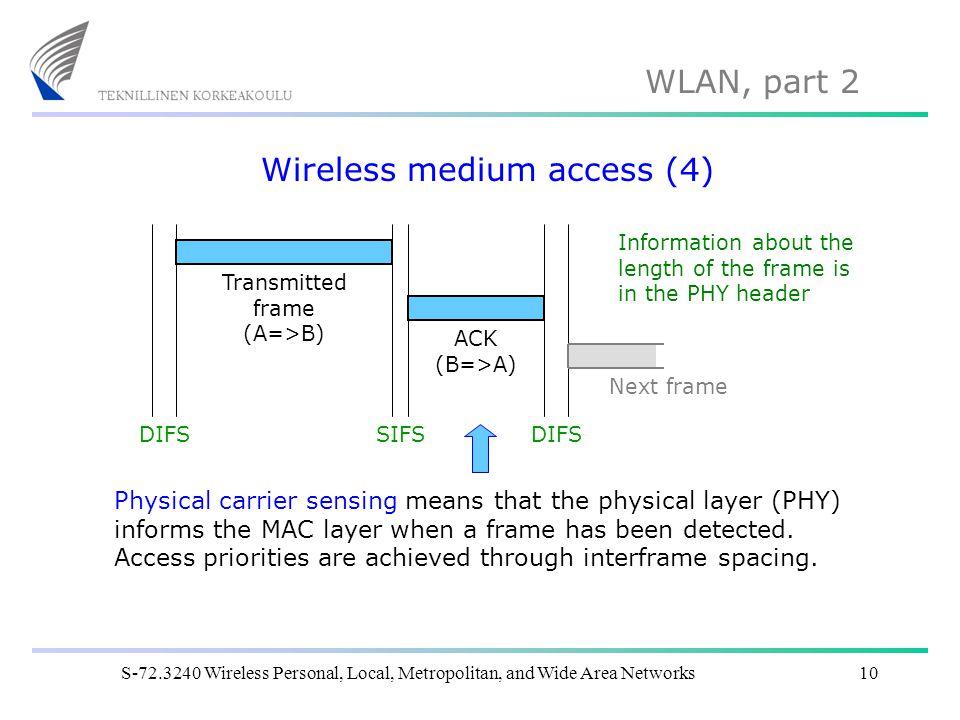 Wireless medium access (4)