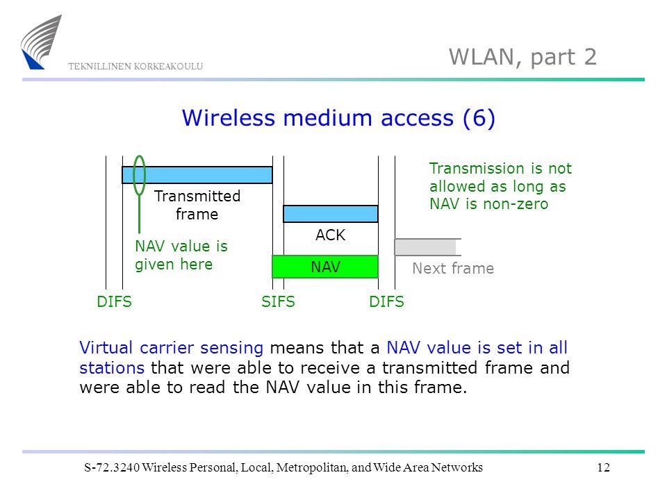 Wireless medium access (6)