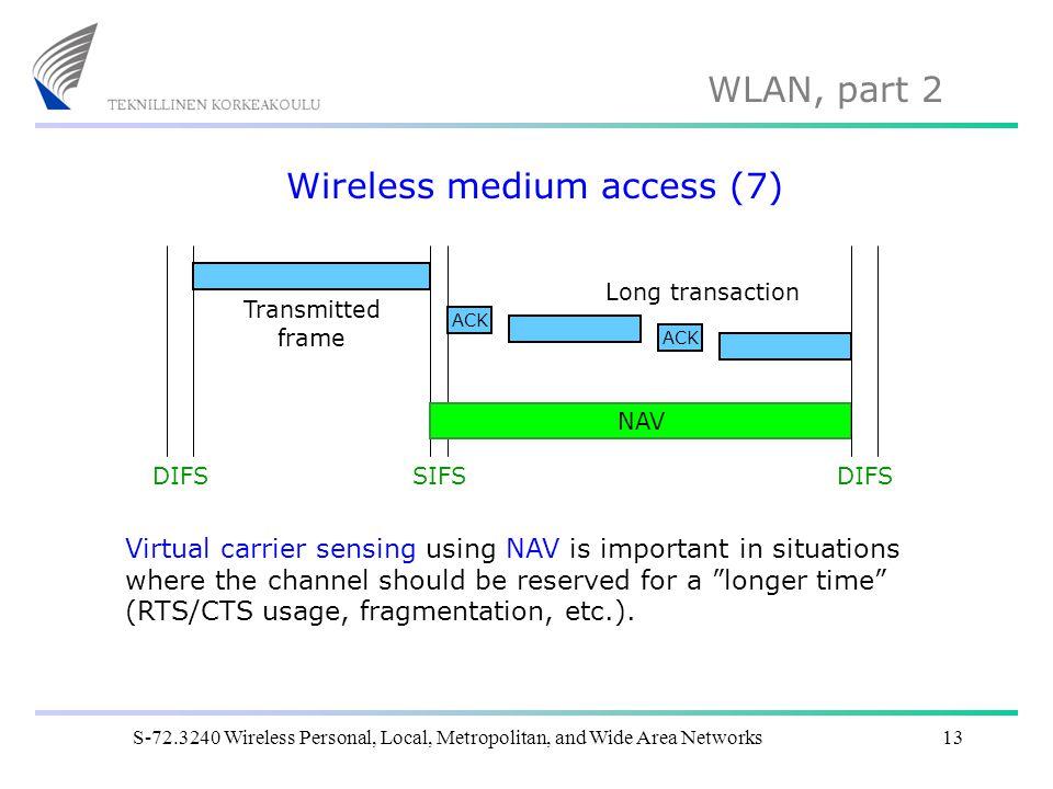 Wireless medium access (7)