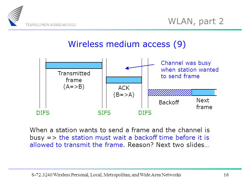 Wireless medium access (9)