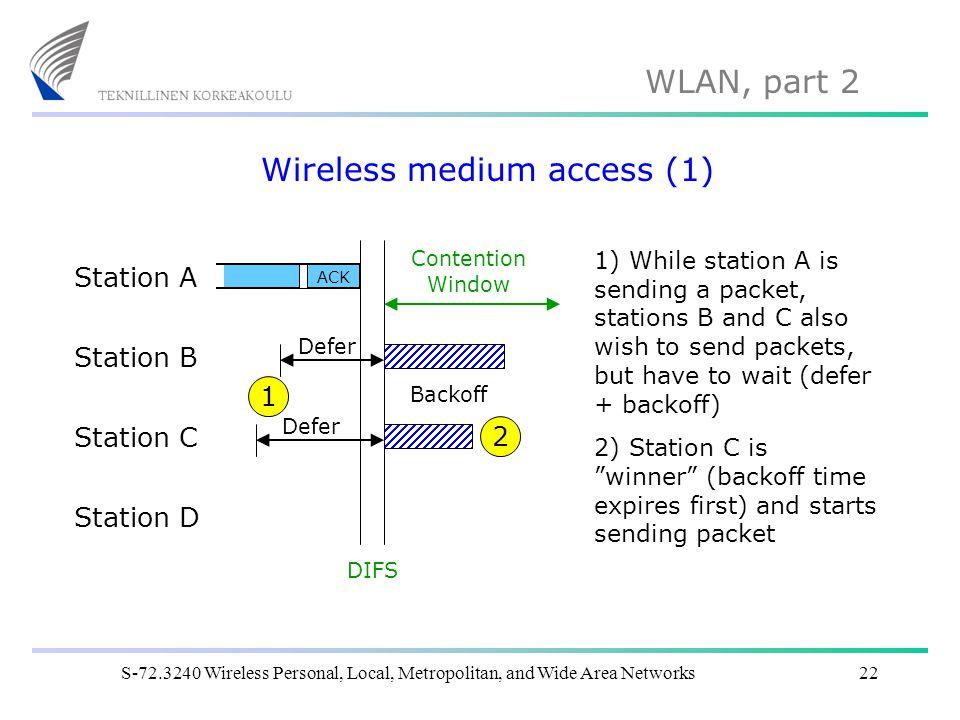 Wireless medium access (1)