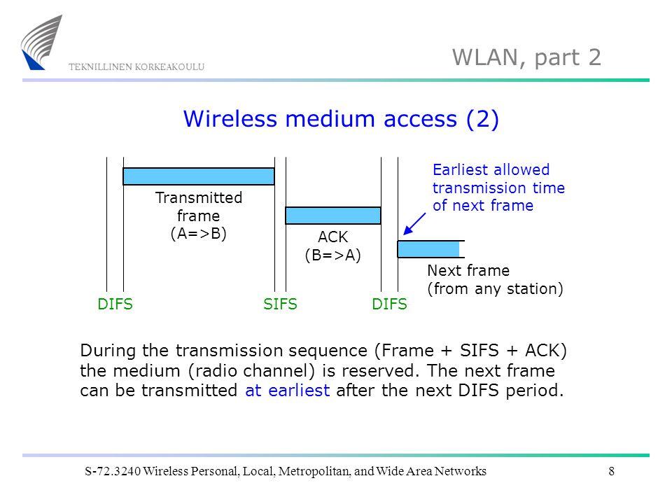 Wireless medium access (2)