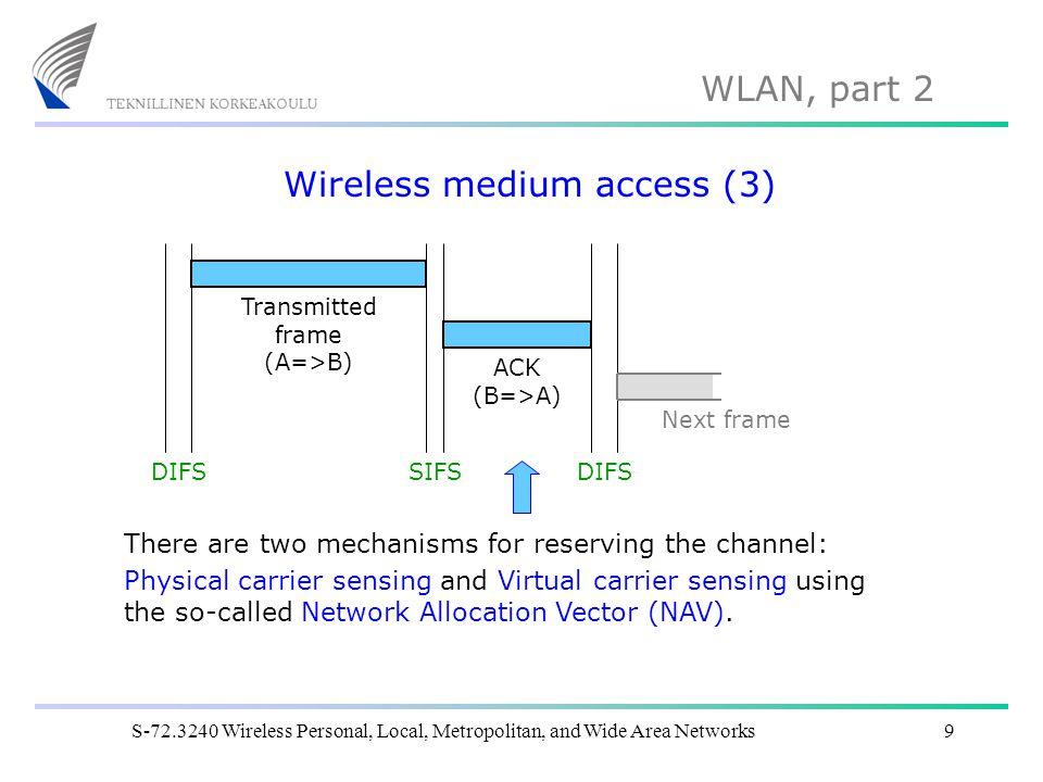 Wireless medium access (3)